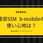 固定費見直しのため格安SIMのb-mobileに乗り換えてみた結果